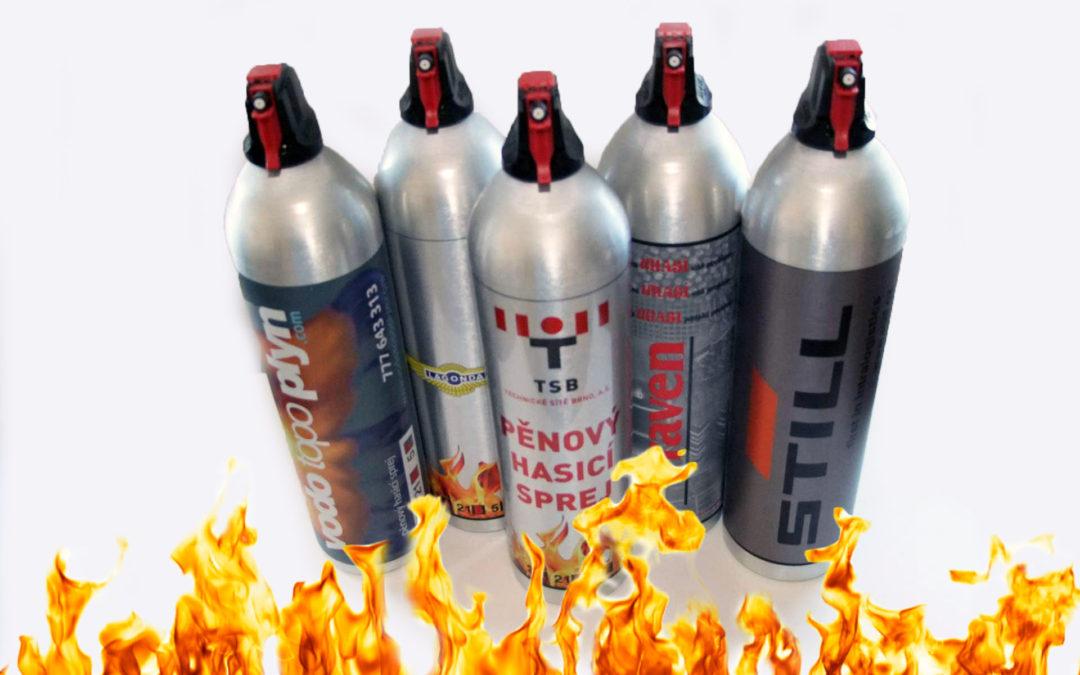 Pěnový hasicí sprej – SKLADEM
